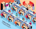 Office Workplace Isometric Vector Illustration Royalty Free Stock Photo