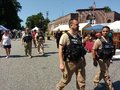 Officers On Patrol, Security During A Street Fair, Rutherford, NJ, USA Royalty Free Stock Photo