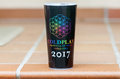 Official Coldplay world tour travel mug Royalty Free Stock Photo
