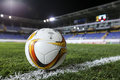 The official game ball of UEFA Europa League game between Qabala Royalty Free Stock Photo