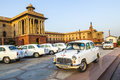 Official hindustan ambassador cars delhi india october parked outside north block secretariat building on october in delhi india Stock Image