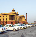 Official hindustan ambassador cars delhi india october parked outside north block secretariat building on october in delhi india Stock Images