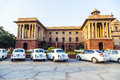 Official hindustan ambassador cars delhi india october parked outside north block secretariat building on october in delhi india Royalty Free Stock Photo