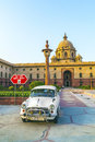 Official hindustan ambassador cars delhi india october parked outside north block secretariat building on october in delhi india Royalty Free Stock Images