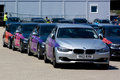 Official London 2012 Olympic BMW 5 series. Royalty Free Stock Photo