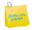 Official paper written on a post illustration design over white Royalty Free Stock Image