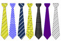 Official tie collection Royalty Free Stock Photo