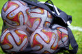 Official UEFA Europa League match ball Royalty Free Stock Photo