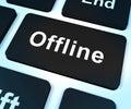 Offline Key Shows Internet Communication Status Royalty Free Stock Image