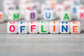 Offline macro word with background Royalty Free Stock Image