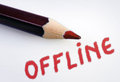 Offline word on grey background Royalty Free Stock Photos