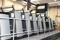 Offset press printing, detail Royalty Free Stock Photo