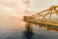 stock image of  Offshore construction platform for production oil and gas.Oil and Gas Rig in offshore