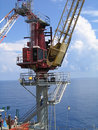 Offshore Crane Royalty Free Stock Photography
