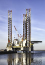 Offshore drilling rig in esbjerg harbor in denmark Stock Photography