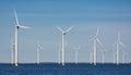 Offshore farm windturbines near Dutch coast Royalty Free Stock Photo