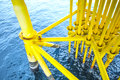 Offshore Industry oil and gas production petroleum pipeline. Royalty Free Stock Photo