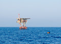 Offshore installation at Egyptian oilfield Stock Image