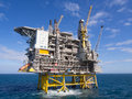 Offshore platform oil on the north sea in the norwegian sector Royalty Free Stock Photography