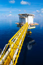 Offshore platform at the south of thailand Royalty Free Stock Image