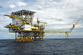 Offshore production platform in a gulf of thailand an Royalty Free Stock Photography