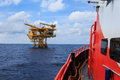 Offshore Production Platform For Petroleum Development Royalty Free Stock Photo