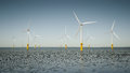 Offshore wind energy park Royalty Free Stock Photo