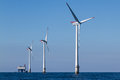 Offshore Windpark Royalty Free Stock Photography