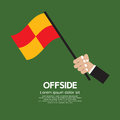 Offside football hand holding vector illustration Royalty Free Stock Photography