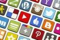 Ogólnospołeczna networking klawiatura Zdjęcia Royalty Free