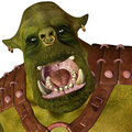 Ogre - mad at all Royalty Free Stock Images