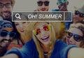Oh Summer Enjoyment Fun Beach Tropical Concept Royalty Free Stock Photo