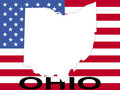 Ohio on flag Royalty Free Stock Photo