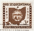 Ohio Postage Stamp 1953 Stock Photos