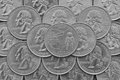 Ohio State and coins of USA. Royalty Free Stock Photo