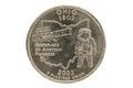 Ohio State Quarter Coin Royalty Free Stock Photo