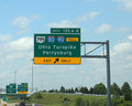 Ohio turnpike sign toledo oh june the commission that oversees the whose entrance is shown on june has been sued over payment of Royalty Free Stock Image
