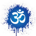 Ohm in Blue Spatter Royalty Free Stock Photo