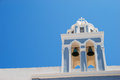 Oia bell tower in santorini island greece Stock Photo