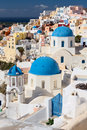 Oia buildings in greece aegean sea Royalty Free Stock Image