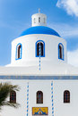 Oia church santorini greek orthodox in the town of greece europe Stock Image