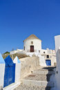 Oia classical greek architecture in santorini island greece Stock Photography