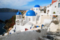 Oia Dome Churches, Santorini Royalty Free Stock Photo