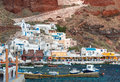 Oia greece may tourists await the famous sunset in santorini island a a summer tourist destination Royalty Free Stock Photography