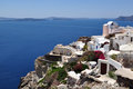 Oia at the greek island of Santorini Stock Photo