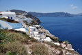 Oia at the greek island of Santorini Royalty Free Stock Images