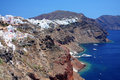Oia at the greek island of santorini panorama Stock Photo
