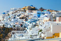 Oia on the island of santorini greece Stock Images