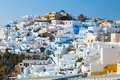 Oia on the island of santorini greece Stock Photo
