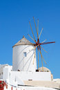 Oia old windmill in village santorini island greece Royalty Free Stock Photography